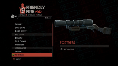 Weapon - Shotguns - Semi-Auto Shotgun - Ion Blaster - Fortress