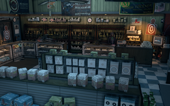 Friendly Fire - interior view of checkout in Saints Row The Third
