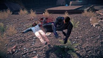 Playa performing a Dropkick in Saints Row IV
