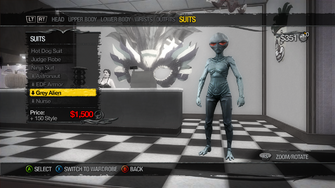 Suits - Grey Alien