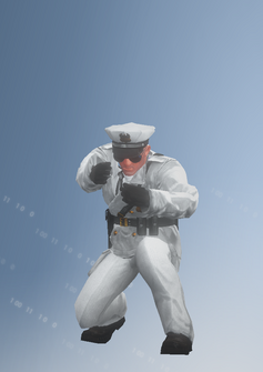 Cop - riotshield - John - character model in Saints Row IV