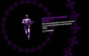 DLC unlock SRTT - Explosive Combat Pack