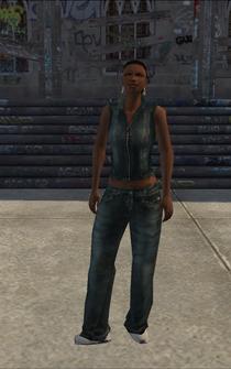 Generic black female - b2 - character model in Saints Row