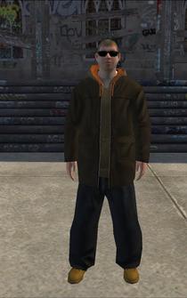 Hustler - white hoody - character model in Saints Row
