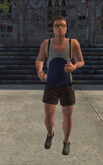 Jogger male - white - character model in Saints Row