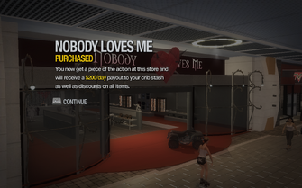 Nobody Loves Me purchased in Saints Row 2