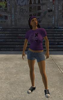 Saints female Thug-02 - hispanic - character model in Saints Row