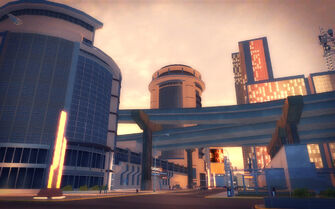 Athos Bay in Saints Row 2 - freeway overpass