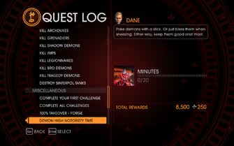 Gat out of Hell Challenge - Demon High Notoriety Time