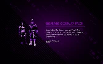 Reverse Cosplay Pack unlocked