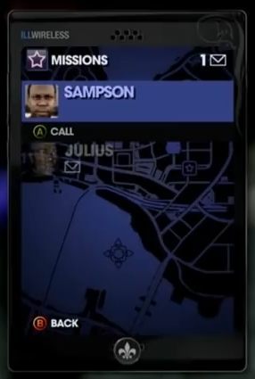 Sampson in Cellphone in Saints Row The Third production footage