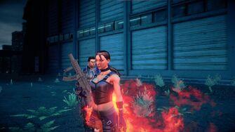 Shaundi Super Homie unfazed by Fire attacks
