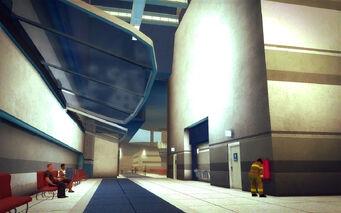 Wardill Airport building - glass overhangs
