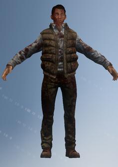 Zombie 01 - Wilbur - character model in Saints Row IV
