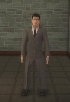 Business male - doorman asian - character model in Saints Row 2