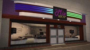 The Mix 107.77 store in Rounds Square Shopping Center