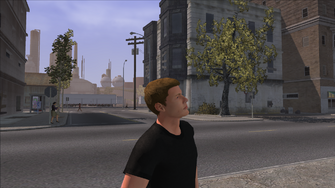 The Streets of Stilwater - view of background and crash scene from prostitute location