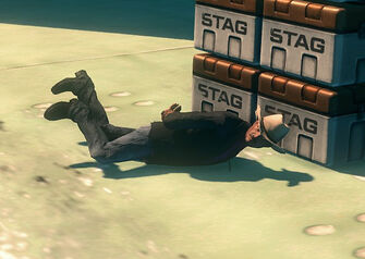 Burt tied up in Three Way in Saints Row The Third
