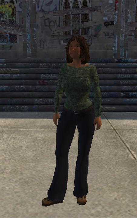 Generic young female 02 - blackSleeve - character model in Saints Row