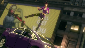 Saints Row IV Announce Teaser - rosie the riveter billboard