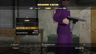 Saints Row Weapon Cache - SMG - Platinum T3K Urban