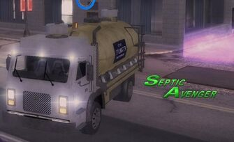 Septic Avenger - front left with headlights and logo in Saints Row 2