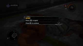 Sprint tutorial in Saints Row 2