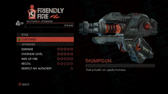 Weapon - Shotguns - Thumpgun - Upgrades