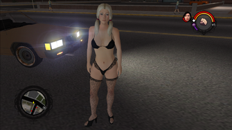 Another random Stripper in place of Samantha as a Homie in the Japanese version of Saints Row