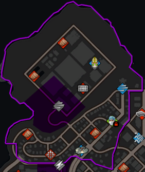 Burns Hill map in Saints Row IV