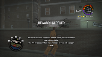 Combat Tricks - Avenger Jacket unlocked in Saints Row 2