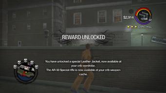 Combat Tricks - Avenger Jacket unlocked in Saints Row 2