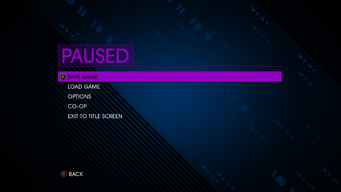 Pause menu in Saints Row IV