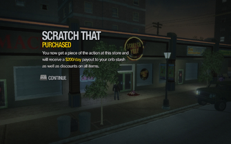 Scratch That in Southern Cross purchased in Saints Row 2