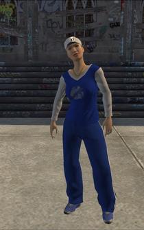 Westside Rollerz female Thug1-01 - white - character model in Saints Row