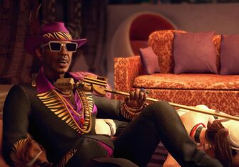 Zimos in an unknown cutscene in Saints Row The Third Remastered