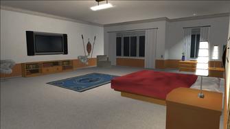 Price Mansion - large bedroom TV
