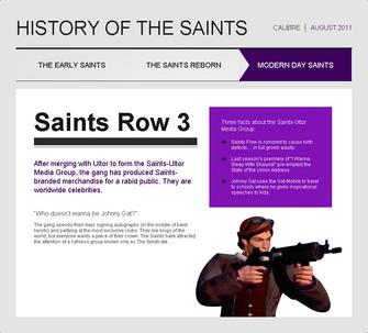 Saints Row website - History - Modern Day Saints