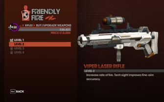 Viper Laser Rifle - Level 2 description