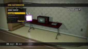 Saints Row Mega Condo - Crib Customization - Home Theater - 10 inch TV