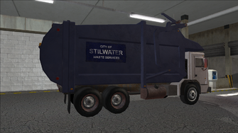 Saints Row variants - Stilwater Municipal - Garbage Truck - rear right
