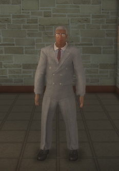 Business male - black with glasses - character model in Saints Row 2
