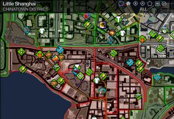 Map in Saints Row 2 - Chinatown - Little Shanghai