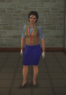 Meter maid - black - character model in Saints Row 2