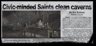 Newspaper sh tss caverns Stilwater Caverns