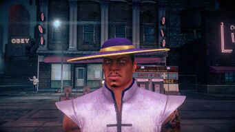 Pierce - face in Super Power outfit in Saints Row IV