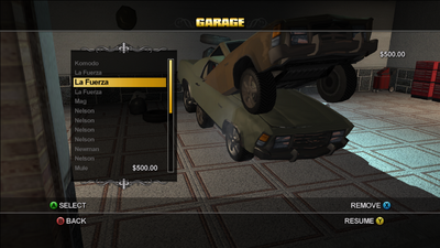 Saints Row Garage duplication glitch