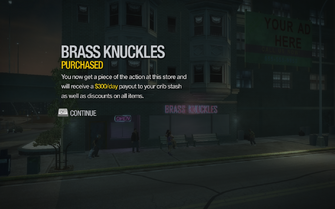 Brass Knuckles in Filmore purchased in Saints Row 2
