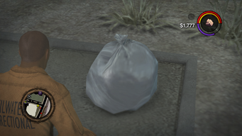 Improvised Weapon - trash bag without prompt