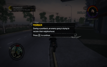 Pushback tutorial description in Saints Row 2